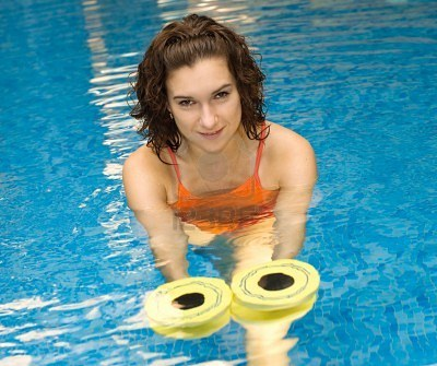 5010928-woman-is-engaged-aqua-aerobics-in-water