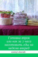Приготовление еды на неделю – Готовка впрок или как за 3 часа наготовить еды на неделю вперед
