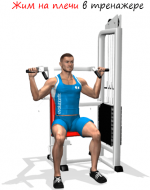 Жим на плечи в тренажере – Жим в тренажере на плечи тренирует плечевой пояс [жим для плеч]